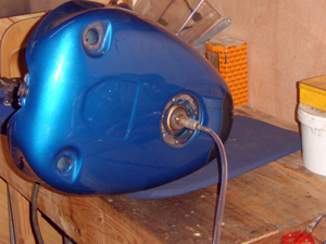 Ongoing motorbike fuel tank repairs