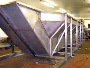 Steel Fabricators working on Hoper