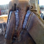 Welding services on Long Rich Digger in Aberdeen