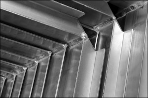 abstract stack of metal angle for background used