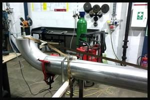 Metal fabrication of steam pipe line
