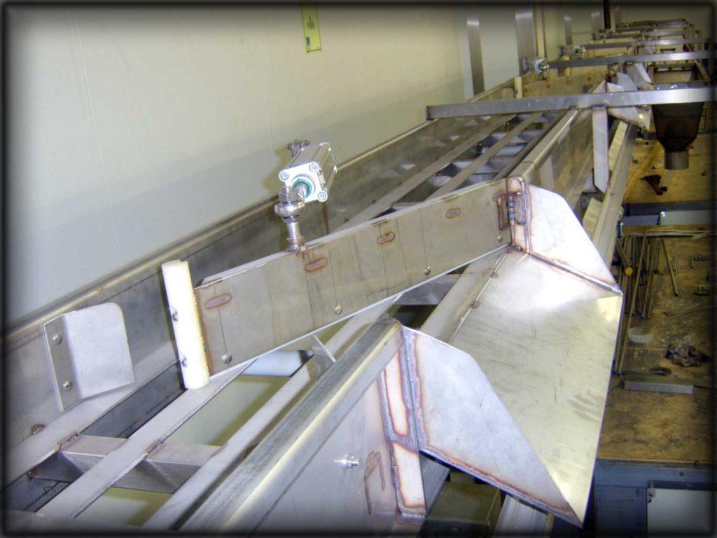 Stainless steel conveyor line