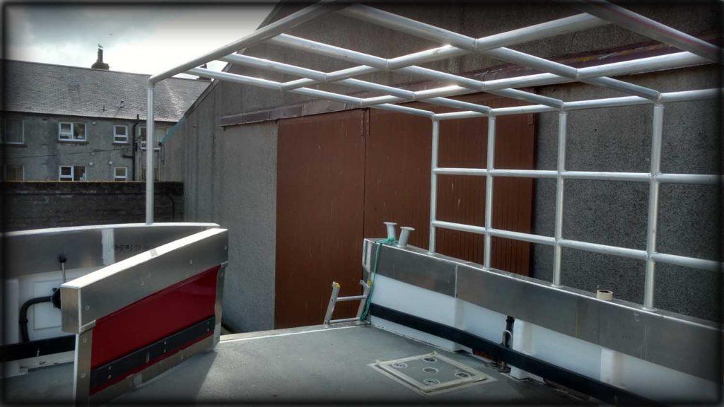 Aluminium welding on Shelter structure