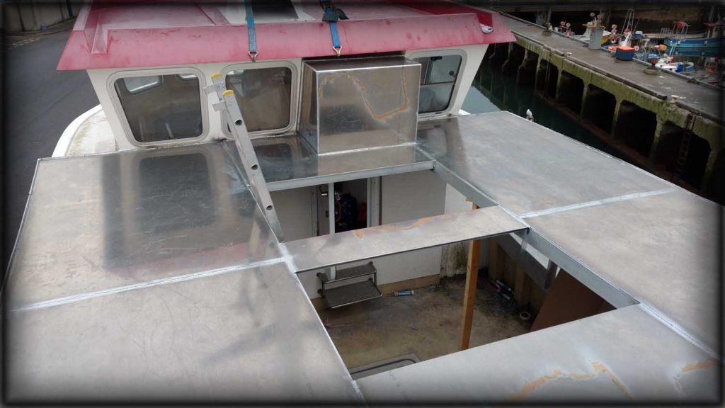 Aluminium Welding of a shelter deck