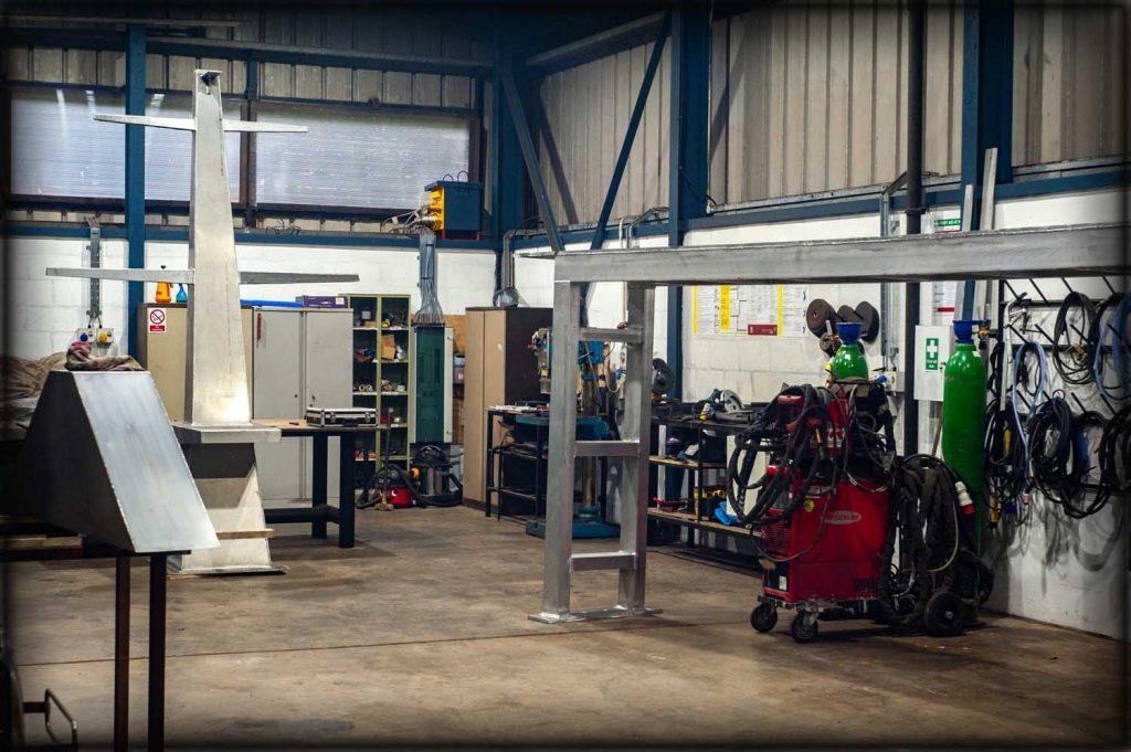 Aluminium welding company shop floor