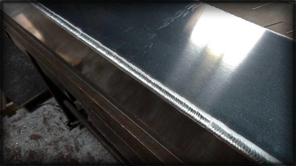 Aluminium welding, corner bead