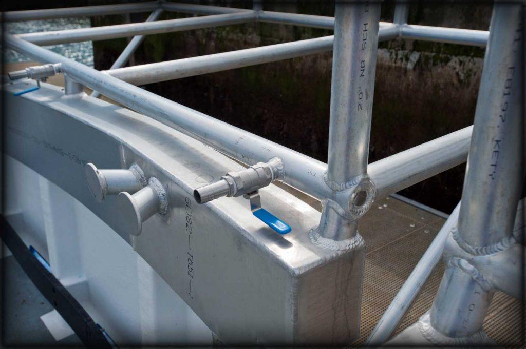Aluminium welding on handrails