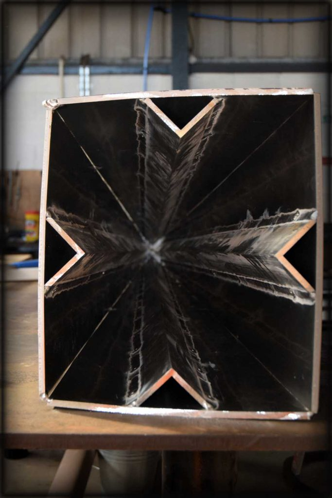 Aluminium fabrication of internal stiffening structures