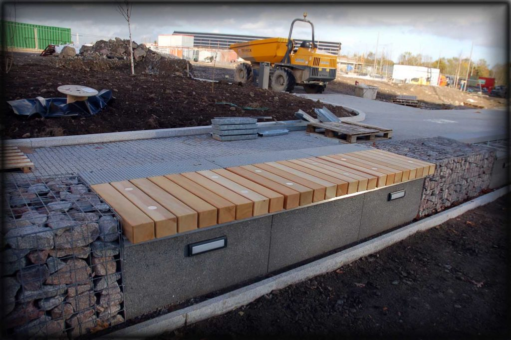 Site welding and installation of benches