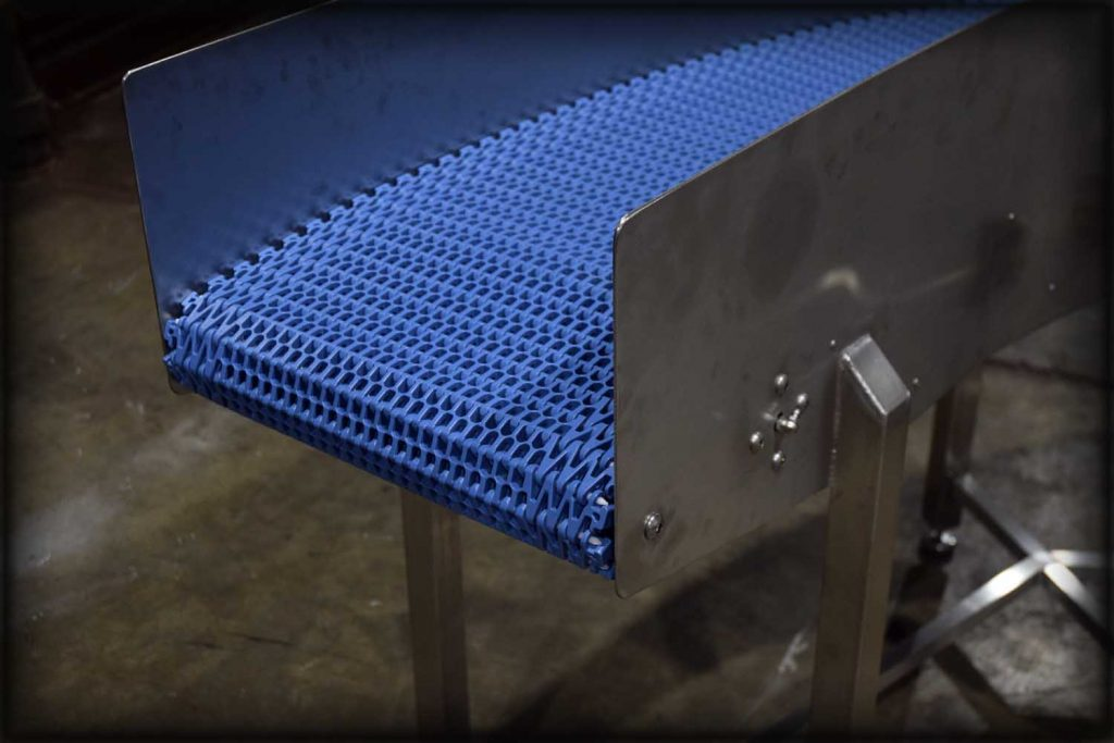 Stainless steel fabrication of angular conveyor