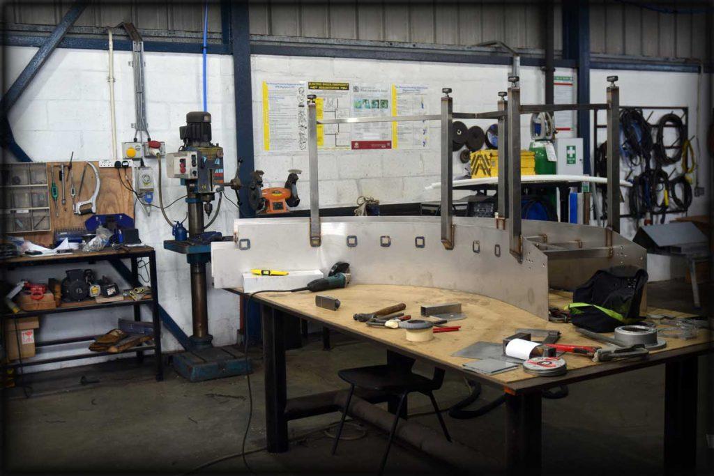 Stainless steel fabrication of conveyor