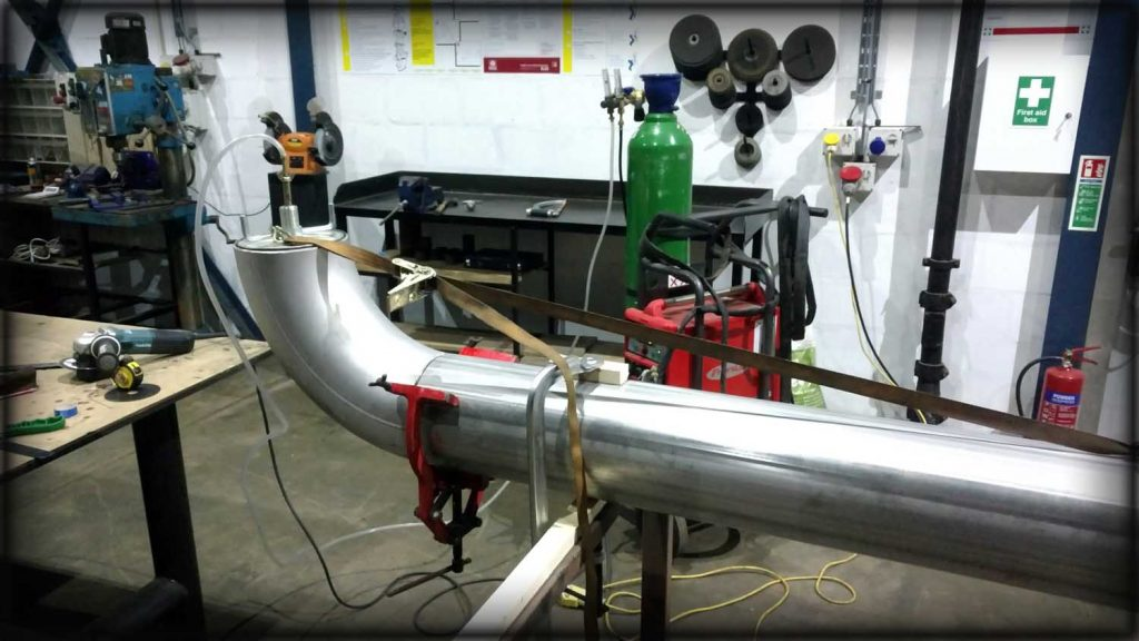 Stainless steel fabrication, pipework