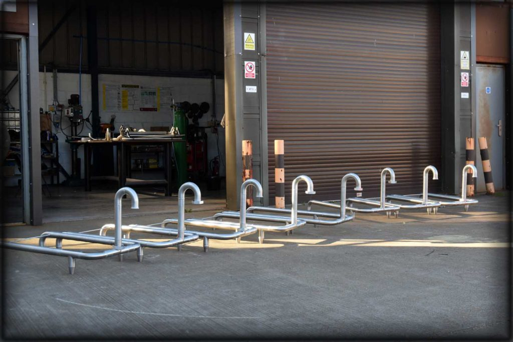 Stainless steel fabrication of swan neck pipework