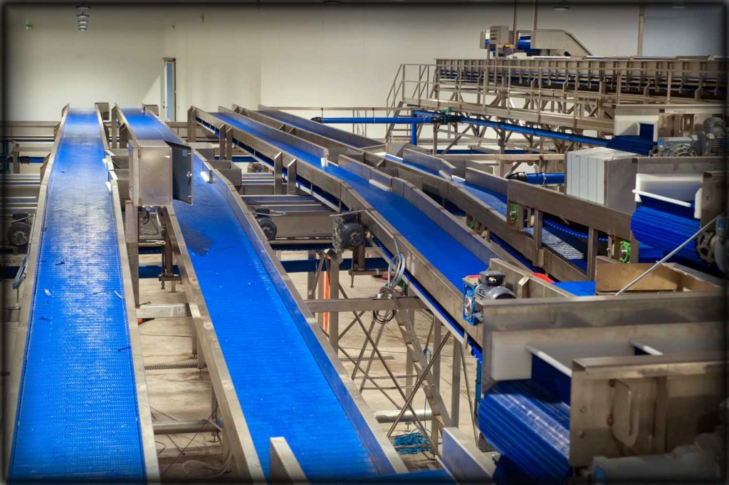 Stainless steel welding on factory conveyors