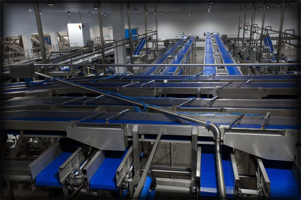 Stainless steel fabrication of various conveyors