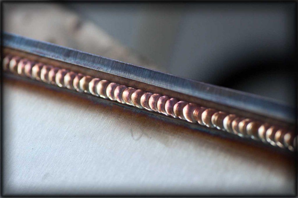 Stainless steel welding sample