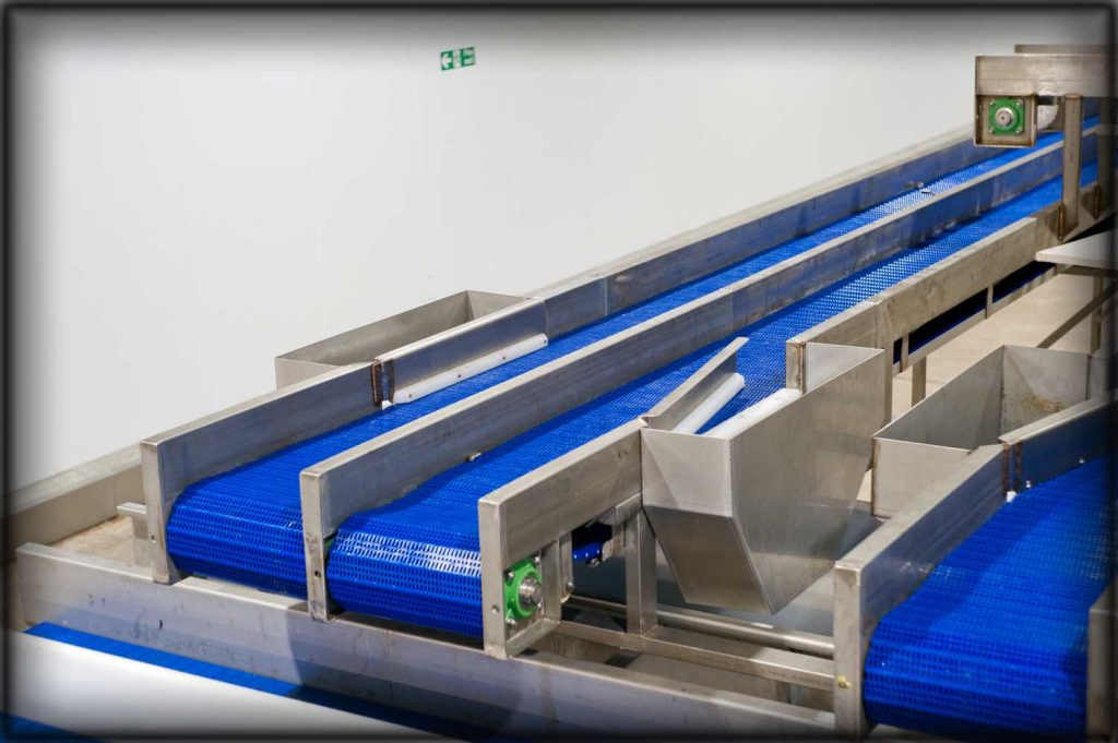 Stainless steel fabrication of conveyor lines