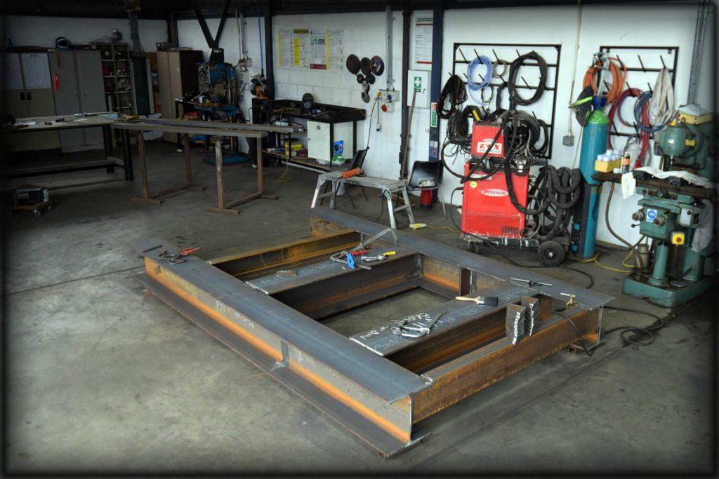 Steel fabrication of frames