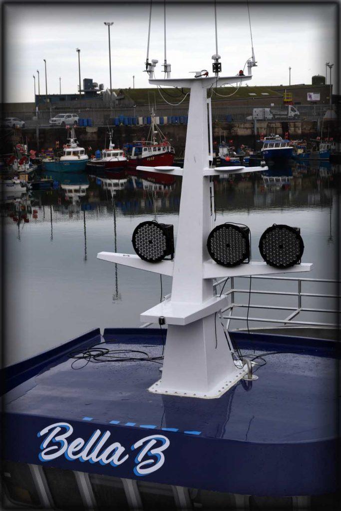 Fabricated Aluminium mast installed, large one