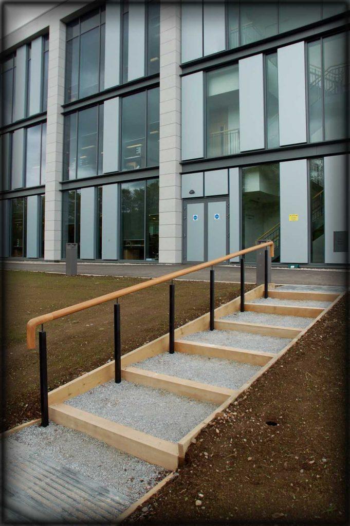 Welded handrail installation